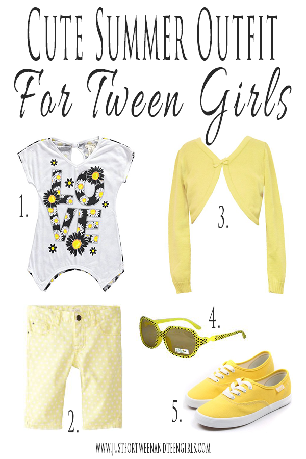 Cute Summer Outfit For Tween Girls