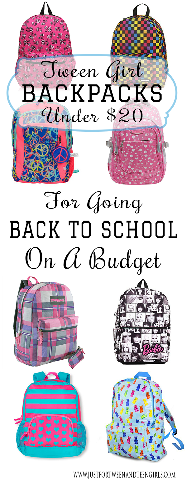 Tween Girl Backpacks Under $20 For Going Back To School On A ...