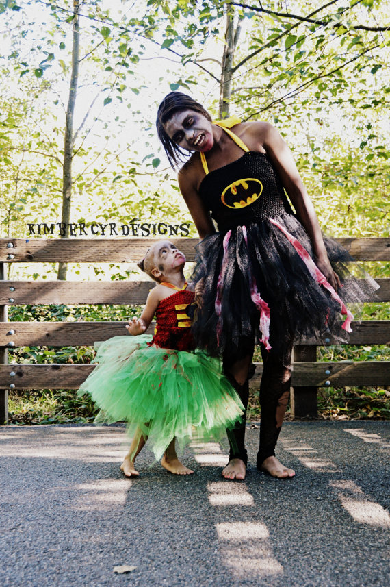 Mother-Daughter Zombie Superhero Tutu Dresses