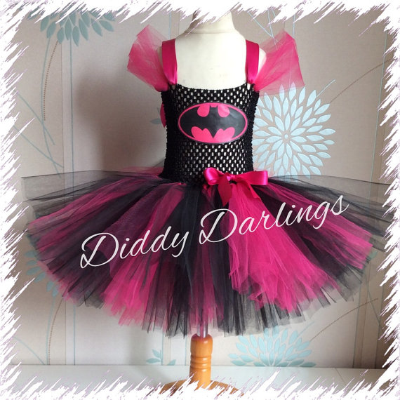Pink Batgirl Tutu Dress