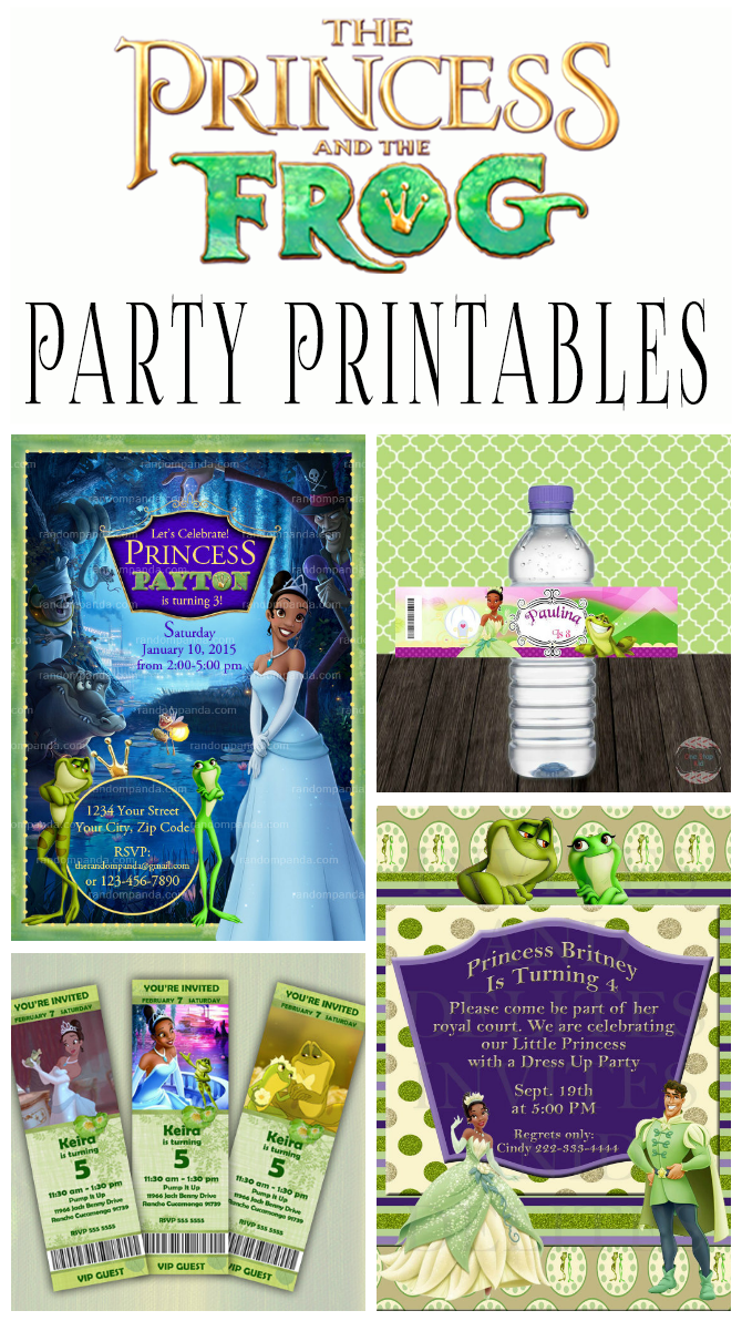 photo about Printable Princess Invitations referred to as Princess And The Frog Birthday Social gathering Printables Increasing