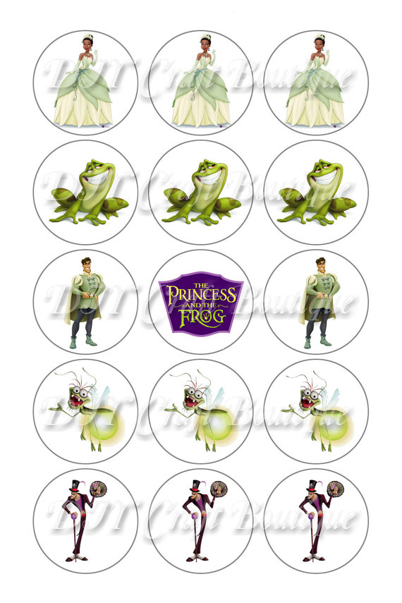 Princess And The Frog Bottle Cap Tags