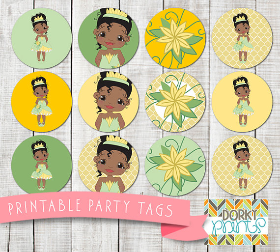 Princess and the Frog Birthday Party Circles