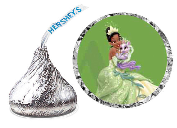 Princess And The Frog Hershey Kiss Stickers
