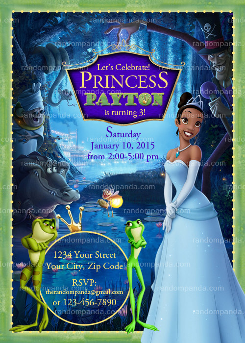 Princess And The Frog Birthday Party Printables | OMG ...