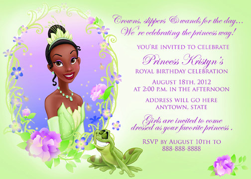 The Princess and the Frog Invitations