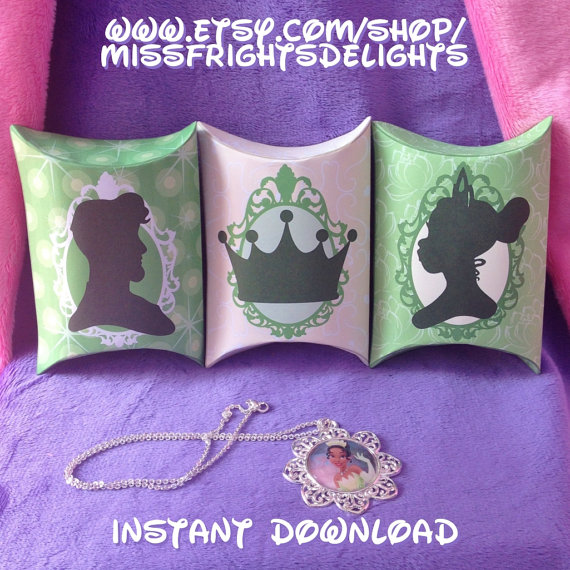 Princess And The Frog Party Favor Treat Boxes