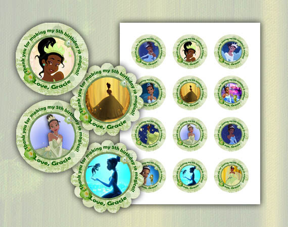 Princess And The Frog Thank You Tags