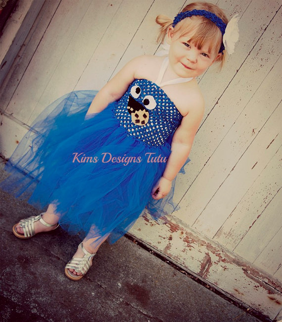 Sesame Street Cookie Monster Tutu Dress