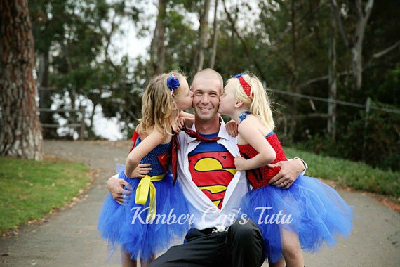 Superman and Superwoman Tutu Dresses
