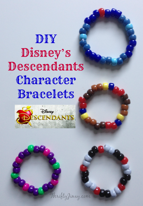 Disneys Descendants Character Bead Bracelets Craft
