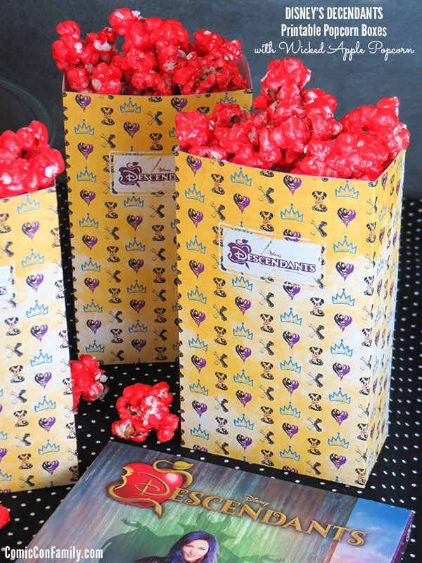 Disney Descendants Popcorn Recipe And Printable Popcorn Box