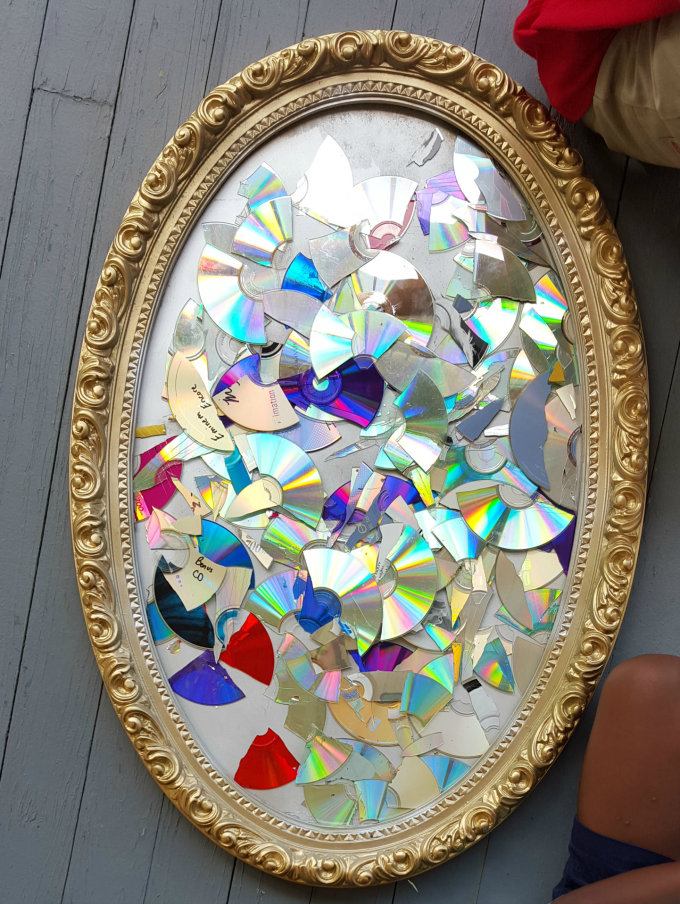 Broken Glass Mirror Craft