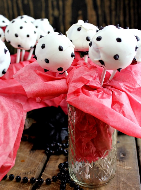 Disney Descendants Carlos Inspired Dalmatian Cake Pops