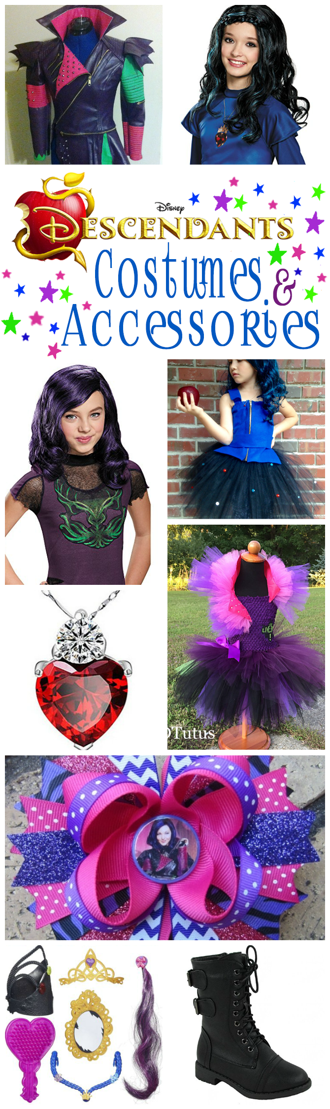 Disney Descendants Costumes And Accessories | Includes A Selection Of Costumes Tutu Dresses Hair  sc 1 st  OMG! Gift Emporium & Disney Descendants Costumes And Accessories | OMG! Gift Emporium