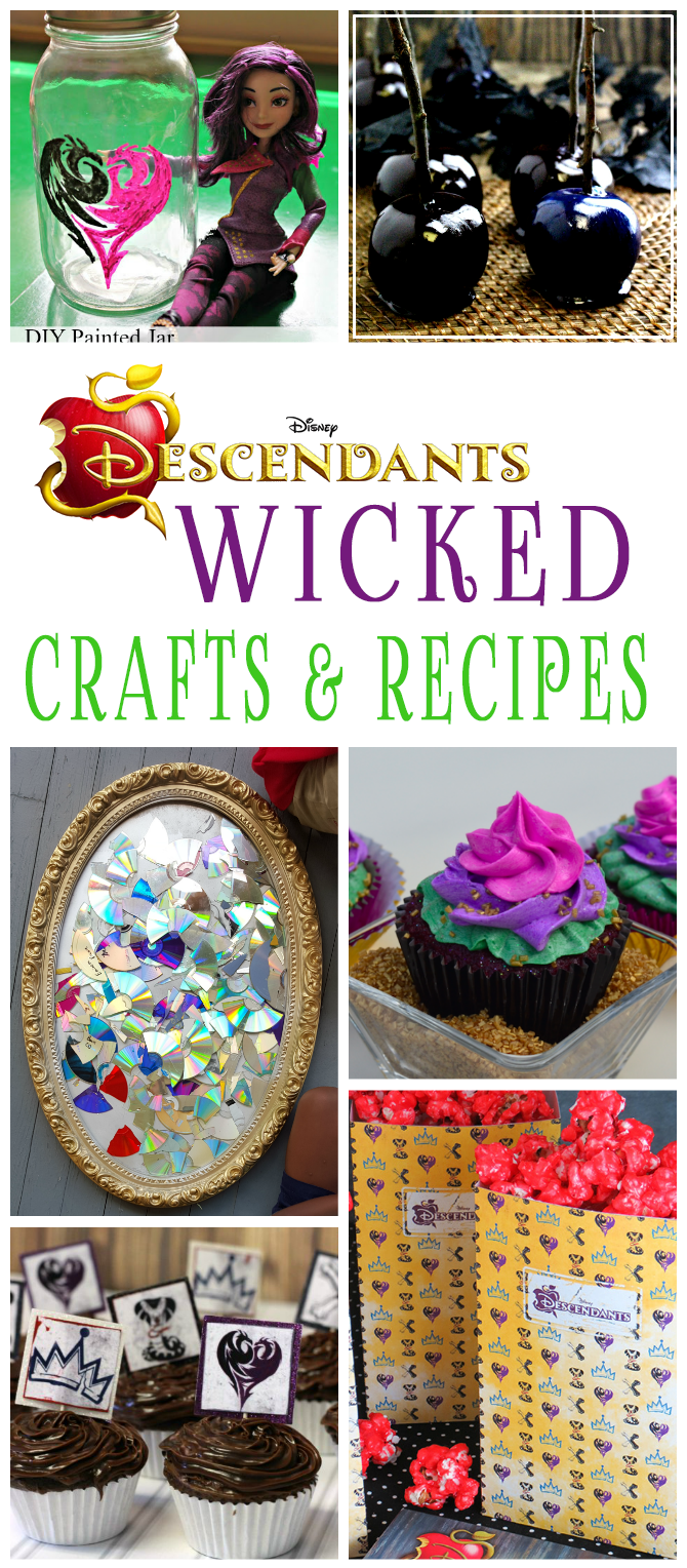 Disney Descendants Crafts And Recipes That Are Perfect For A Movie Watching Or Birthday Party