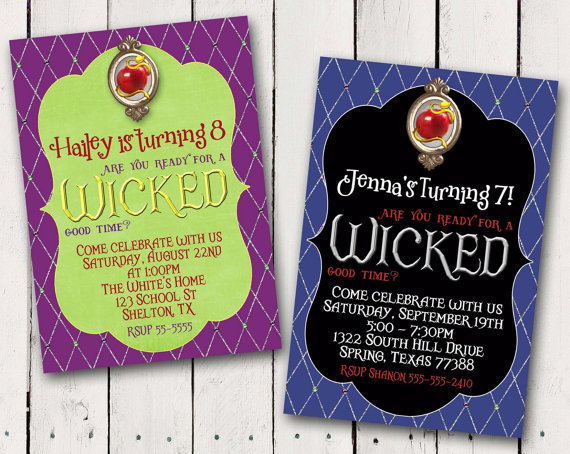 Disney Descendants Inspired Birthday Invitation
