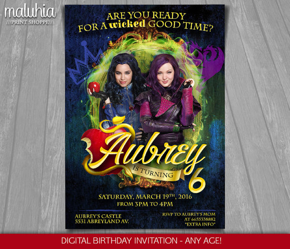 Disney Descendants Invitations