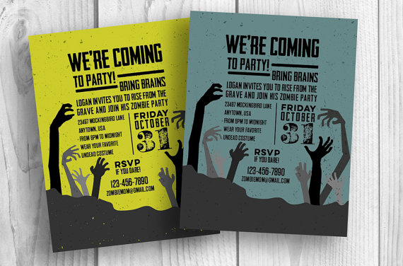 Printable Zombie Invitation