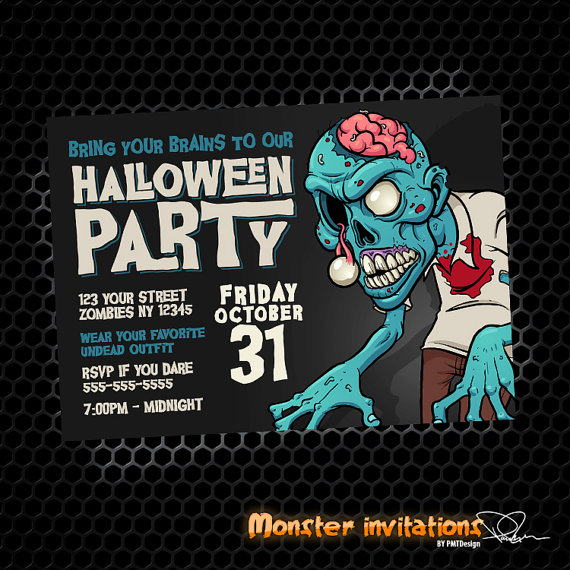 Zombie Party Printable Invitation