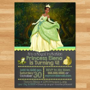 The Princess And The Frog Birthday Party Printables | Invitations, Gift Tags, Cupcake Wrappers, Party Favor Boxes, Water Bottle Labels, Chocolate Bar Wrappers And More.