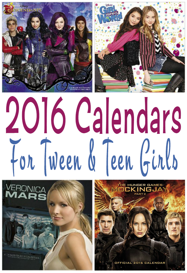 Over 50 Designs Of 2016 Wall Calendars For Teens And Tweens