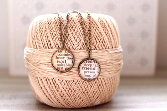 Best Friends Dictionary Pages Necklaces