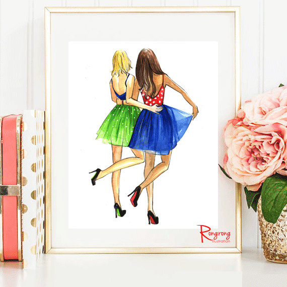 Best Friends Fashion Poster Art Print