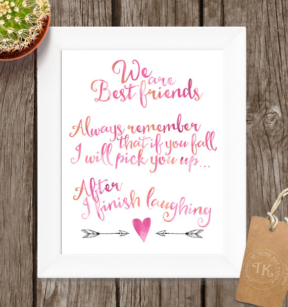 We Are Best Friends Printable Wall Art