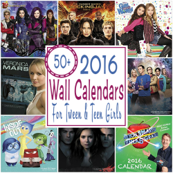 2016 Wall Calendars For Teens And Tweens