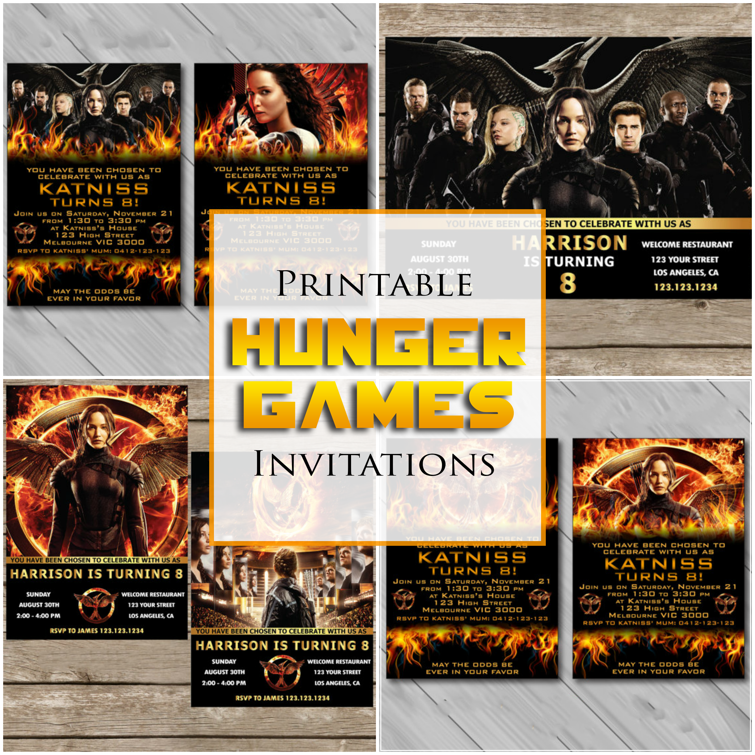 DIY Personalized Printable Hunger Games Invitations For A Birthday ...