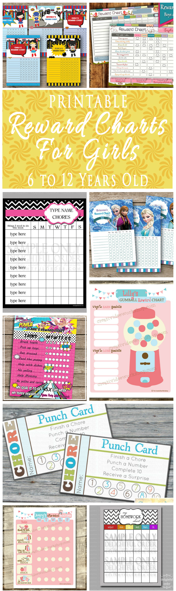 Printable Reward Charts For Kids 6 To 12 Years Old Omg