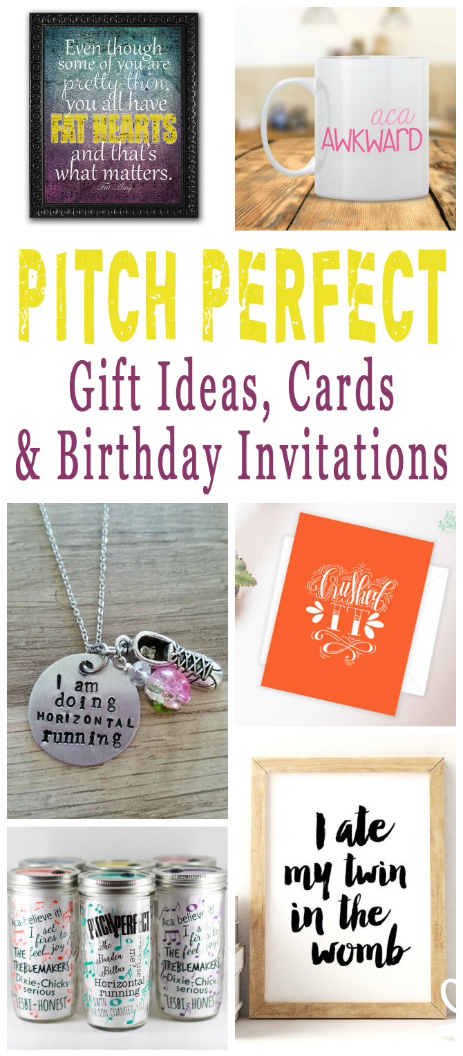 Pitch Perfect Gift Ideas, Cards And Birthday Invitations For A Pitch Perfect Birthday