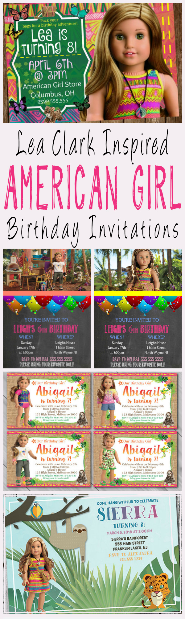 American Girl Party Invitations – gangcraft.net