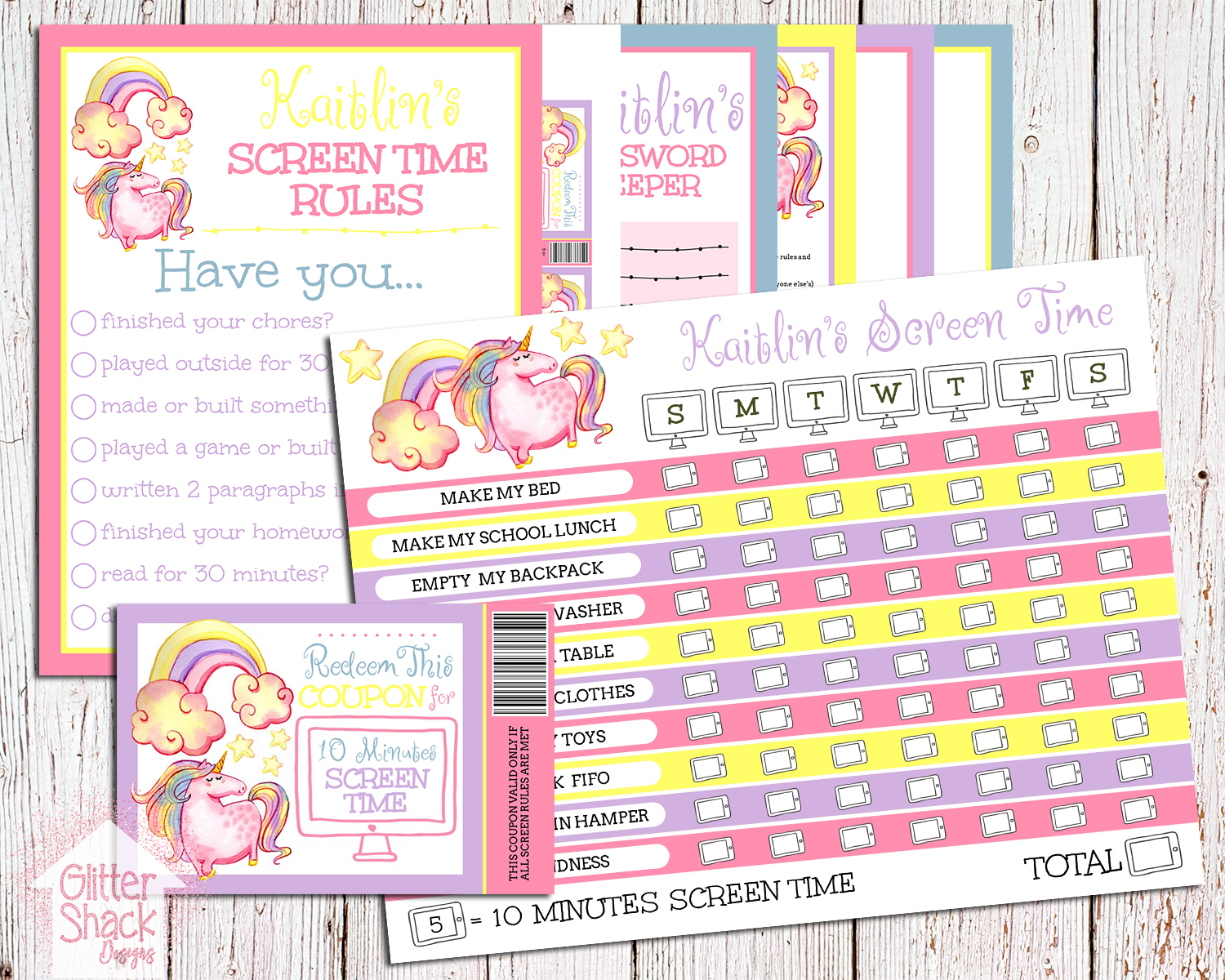 Control Kids Screen Time With A Screen Time Chart And Reward Coupons